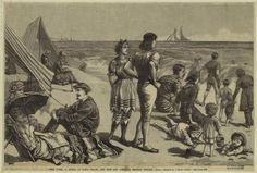 1882, New York, a scene at Long Beach, the new and popular seaside resort.