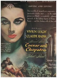 1945 Caesar and Cleopatra Movie Ad starring Vivien Leigh and Claude Rains