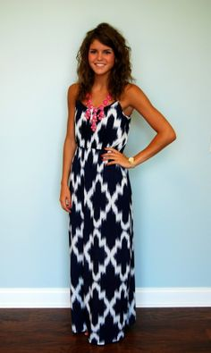 Lovely print thin strap long maxi dress