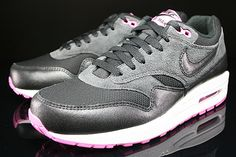 Nike WMNS Air Max 1 Essential Anthracite Black Red Violet 599820-005