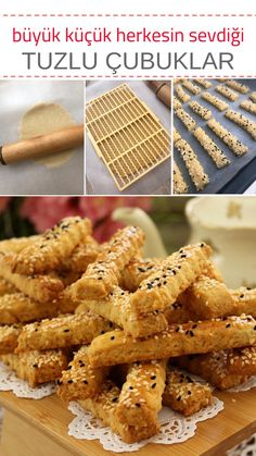 Salted Bars - Yummy Recipes - # 4738796 - Salted Sticks – fabulous salty cookies scattered in the mouth! Yummy Recipes, Yummy Food, Bread Recipes, Turkish Recipes, Tart, Sandwiches, Brunch, Food And Drink, Treats