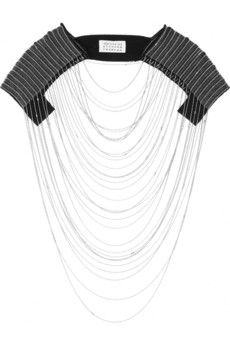 tulle & brass chain harness by maison martin margiela