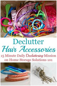 Here is how to declutter hair accessories for adults and kids, including hair clips, ties, headbands, barrettes and more a mission on Home Storage Solutions 101 Hair Tie Storage, Hair Tie Organizer, Headband Storage, Hair Product Storage, Hair Product Organization, Organizing Hair Accessories, Kids Hair Accessories, Closet Organization, Kids Hair Clips