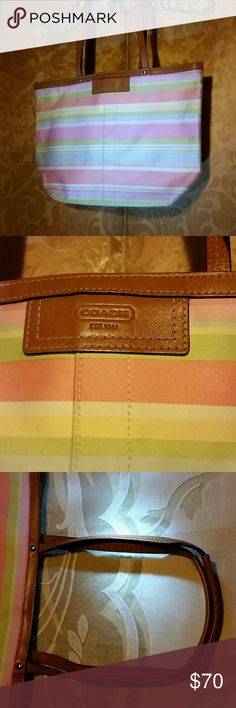 """AUTHENTIC COACH NEW COACH AUTHENTIC NICE PALE EASTER  COLORS. 10"""" HIGH 14"""" WIDE. COACH Bags Totes"""