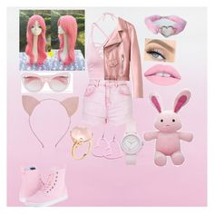 """""""Pink Little 🦄🎀"""" by kpop-star-xox ❤ liked on Polyvore featuring Designers Guild, Topshop, Dr. Martens, Goshwara, GET LOST, Juicy Couture and Erdem"""