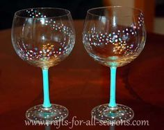 Learn how to paint wine glasses at Crafts For All Seasons