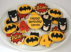 Simple Batman Cookies (Icing by Ang)
