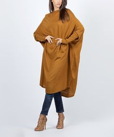 Another great find on #zulily! Terracotta Midi Cape-Sleeve Tunic #zulilyfinds