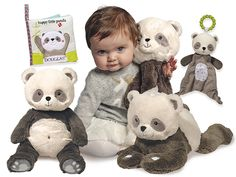 A variety of neutral and trendy colors are available in plush products that provide the soft cuddly feel, like the panda offerings by DOUGLAS.  Baby Trends Article - Gift Shop Magazine @Douglas Co. #plush #baby #trends #panda