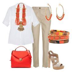 Un toque de naranja by outfits-de-moda2 on Polyvore featuring moda, Reiss, Diane Von Furstenberg, ALDO, Zara, Cara Accessories, MANGO and Me&Ro
