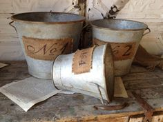 The Everyday Home: Rusty Metal Bucket