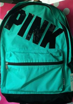 4a480bacbd91 Victorias Secret PInk Campus Backpack Bookbag Carry On Full Size Sequence