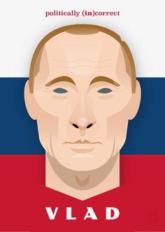 Vladimir Putin politically (in)correct by Gabriele Benvenuti #politicallyincorrect #illustrazione #face #vector #art #people #illustration #poster