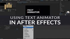 The Basics of Text Animators in After Effects