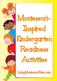 Montessori-Inspired Kindergarten Readiness Activities (includes Montessori Monday link-up collection)