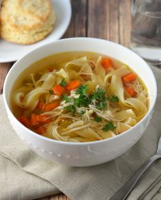 Easy slow cooker chicken soup: The easiest dinner you'll put on the table!