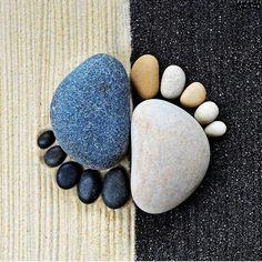Zen rock foot art. |Repinned by www.borabound.com