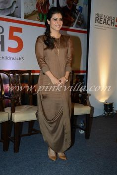 Kajol at 'Help A Child Reach campaign Indian Attire, Indian Wear, Indian Outfits, Indian Gowns Dresses, Pakistani Dresses, Western Dresses, Western Outfits, Kurta Designs, Blouse Designs