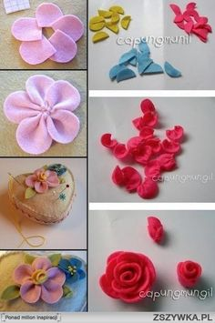 fabric flowers - Google Search