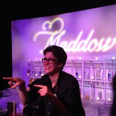 Rachel Maddow's cocktail bar after the White House Correspondents Dinner.