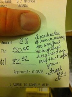 there is good out there. Pay it forward