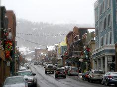 Park City, Utah in the snow Salt Lake City Utah, Park City, Street View, Snow, Eyes, Let It Snow