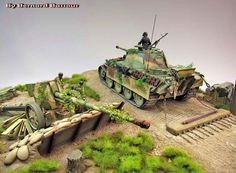"Diorama ""Going stealth - The art of camouflage"""