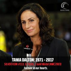 Tania Dalton (born Tania Nicholson 1972-2017) played 12 tests for the New Zealand Silver Ferns netball team, making her debut against South Africa in 1996 under coach Leigh Gibbs.   The goal shoot/goal attack played in the the 2003 world championships in Kingston, Jamaica, which New Zealand won, pipping Australia 49-47 in the final.