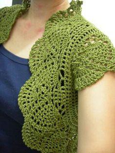 Crochet pineapple stitch Shrug