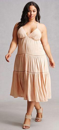 Plus Size Fashion: Boho Me Crochet Cami Dress Trendy Dresses, Plus Size Dresses, Plus Size Outfits, Nice Dresses, Casual Dresses, Looks Plus Size, Plus Size Model, Plus Size Fashion For Women, Curvy Women Fashion