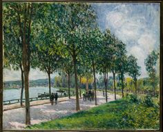 In the 1860's, Sisley met Pissarro, Monet, Bazille, and Renoir, with whom he brought forth the practice of painting directly from nature. Exhibiting with the Impressionists, as they were formally named at the time of their independent exhibition in Paris in 1874, Sisley enjoyed short-lived but considerable success during the 1870's