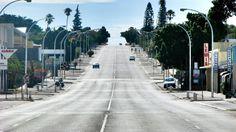 Empty road Elands Baai  South Africa