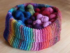 Ravelry: Project Gallery for Yarn basket pattern by Anna & Heidi Pickles