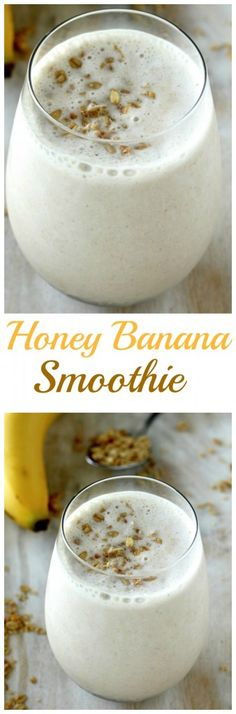 The BEST Honey and Banana Smoothie - so quick, easy, and delicious!