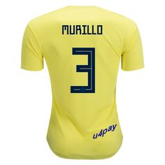 f3ec424e8 Oscar Murillo 3 2018 FIFA World Cup Colombia Home Soccer Jersey Carlos  Valderrama