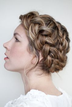 braiding for a wedding hairdo