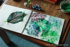 leaf printing. Nature walk with leaf craft to end it off.