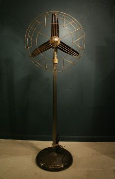Art Deco Marelli floor standing fan.