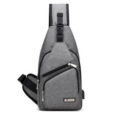 Oxford Casual Women Men Chest Bag USB Place Sling Bag Crossbody Shoulder Bag