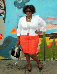 Day 9 #Rock10For30 | Birthday Suit + Orange Lace http://curvatude.me/1iResoa #plussize