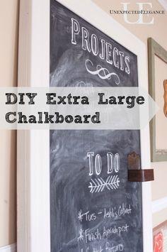 DIY Extra Large Chalkboard  tutorial.