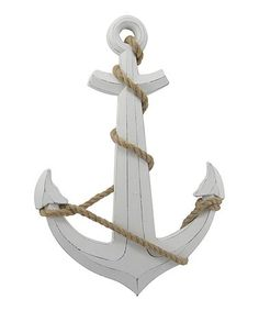 Another great find on #zulily! Anchor & Rope Wood Wall Art #zulilyfinds