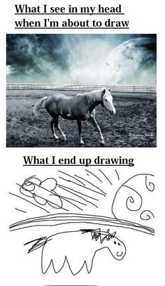 What I See In My Head When I'm About To Draw - Expectation vs. Reality