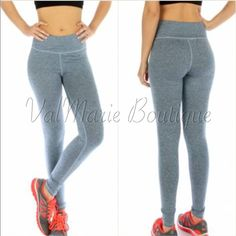 Heather Blue Athletic Leggings These amazing heather blue athletic leggings feature phenomenal comfort and stretch with Hidden key pocket and double layered waist. Work out in style or just lounge around. You will find any excuse to wear these. Excellent quality. Amazing price that is firm unless bundled. You may purchase this listing as I've created individual listings for each size. S(2-4) M(6-8) L(10-12) stretches to fit most heights.  Made of 95% Rayon, 5% Spandex ValMarie Boutique…
