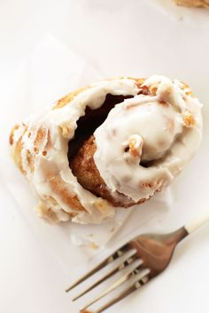# Healthy cinnamon rolls. Use 1/2 sprouted whole wheat flour and 1/2 garbanzo instead of normal flour. Sub Coconut oil for vegan butter. Coconut sugar for sugar. Top with coconut sugar-butter frosting or coconut butter blended with coconut sugar for a healthier frosting.  (try skipping yeast) YUM