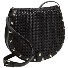 Pre-owned Rebecca Minkoff Black Cross Body Bag (1,270 SVC) ❤ liked on Polyvore featuring bags, handbags, shoulder bags, black, shoulder strap bag, pocket purse, rebecca minkoff purse, crossbody saddle bag and strap purse