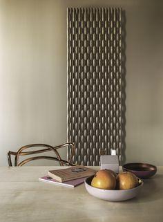 Wall-mounted decorative radiator TRAME by Tubes Radiatori design Stefano Giovannoni