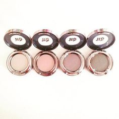 Urban Decay Eyeshadow Singles | Left to Right: Verve, Laced, Bust, and Pistol