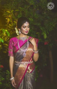 Stunning Latest Maggam Work Blouse designs 2020 for bridal kanjeevaram silk sarees, wedding blouses, pattu saree blouse designs 2020 Pattu Saree Blouse Designs, Half Saree Designs, Bridal Blouse Designs, Indian Bridal Sarees, Bridal Silk Saree, Saree Wedding, Silk Sarees, Wedding Wear, Wedding Bride