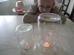 Candles under a jar